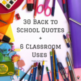 30 Back to School Quotes + 6 Classroom Uses