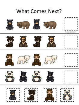 30 Bears Preschool Games Download. Games and Activities in a ZIP file.