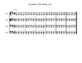 30 Beginning Orchestra Group Sight Reading Lessons D and A strings