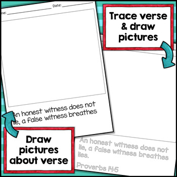 30 Bible Verse Drawing Pages