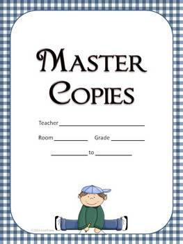 30 Binder Covers for Teachers -Blue Gingham