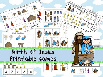 30 Birth of Jesus themed Printable Games and Activities. Christian preschool cur