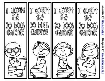 30 Book Challenge Bookmarks