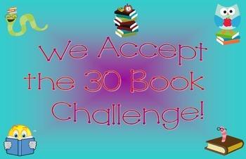 30 Book Challenge Classroom Poster