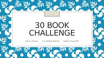 30 Book Challenge PD Power Point