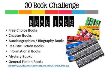 30 Book Challenge _ Brag Tags!