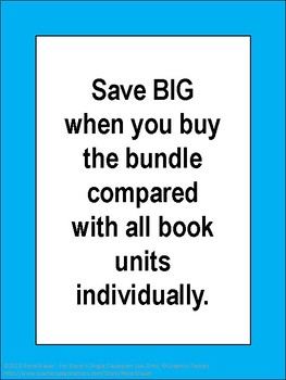 Book Study Units HUGE Bundle