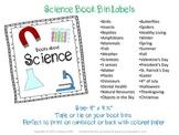 30 Bright, graphic filled Science & Season Book Bin Labels