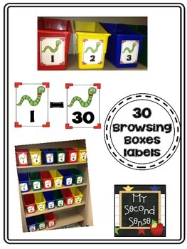 30 Browsing Boxes Labels {Freebie}