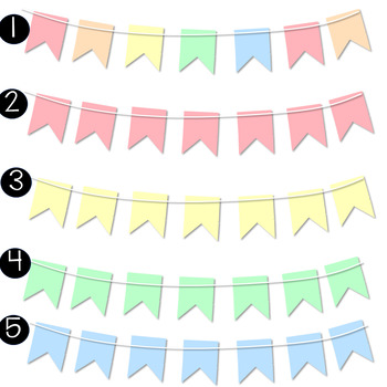 30 Bunting Banners Clipart Pack