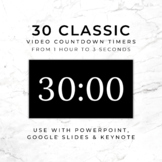 30 CLASSIC (B) Video Countdown Timers - For PowerPoint, Go