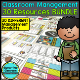 30 CLASSROOM MANAGEMENT PRODUCTS: EDITABLE PRINTABLE RESOURCES