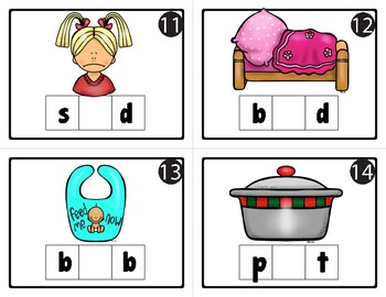 30 CVC VOWEL SOUND TASK CARDS for SCOOT,  Write the Room, Centers, and More