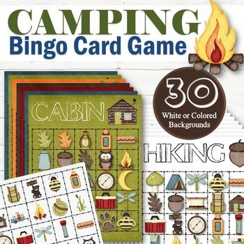 30 Camp Bingo Cards - INSTANT DOWNLOAD