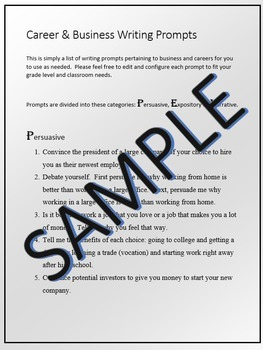 33 Career & Business Writing Prompts 7-12