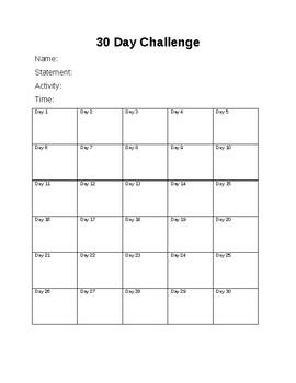 30 Challenge