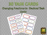 30 Changing Fractions to Decimals Task Cards