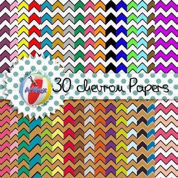 DIGITAL PAPER - 30 Chevron Papers!