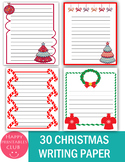 30 Christmas Writing Papers- Christmas Stationary- Holiday