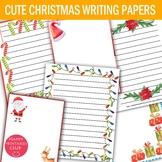 32 Christmas Writing Papers- Christmas Stationary- Holiday