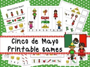 30 Cinco de Mayo Games Download. Games and Activities in PDF files.