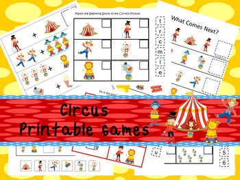 30 Circus Games Download. Games and Activities in PDF files.