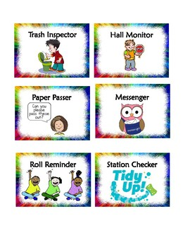 30 Classroom Jobs that will turn a classroom into a community - Rainbow Pattern