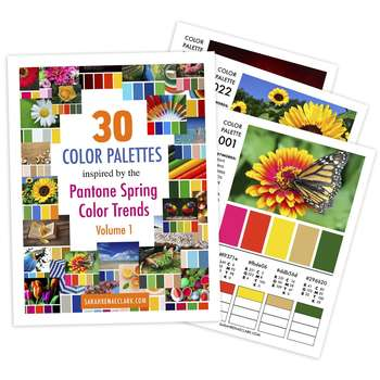 30 Color Palettes inspired by the Pantone Spring Color Trends (Volume 1)