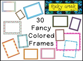 30 Colorful Rectangle Frames - Commercial Use OK !