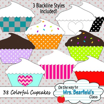 38 Colorful Cupcakes