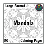 30 Coloring Pages Large Mandala Designs Perfect for testing week