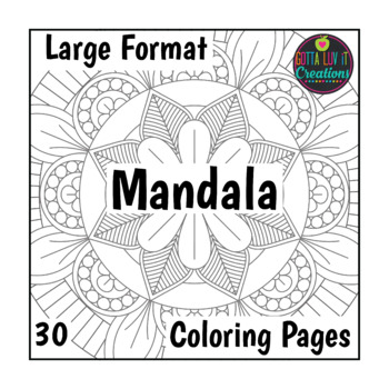 30 Coloring Pages Large Mandala Designs Coloring Worksheets