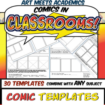 30 Comic Book and Comic Strip Templates! Graphic Novels! Visual Notes!