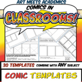 30 Comic Book and Comic Strip Templates! Graphic Novels! V