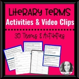 30 Common Core Literary Terms w/ Video Clips & Activities
