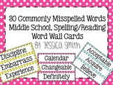30 Commonly Misspelled Words Word Wall Words for Middle School