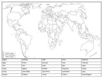 30 Countries Map
