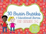 30 Creative Brain Breaks & Educational Activities for Grades 3-6