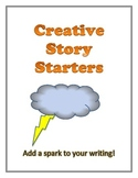 30 Creative Story Starters: Black and White Version