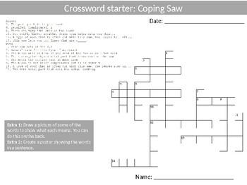 30 Crossword Design Technology Tools Keyword Starters Crossword Activities