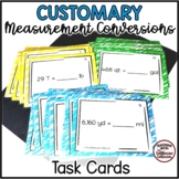 30 Customary Measurement Conversions Task Cards: Length, W