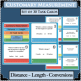 30 Customary Measurement Units Length Distance Task Cards Benchmark Comparisons