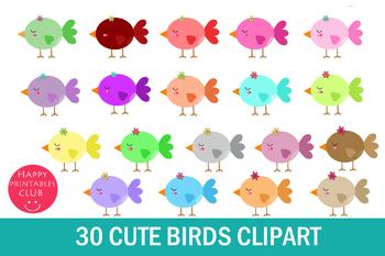 30 Cute Birds Clipart-Small Birds Clipart-Baby Bird Clipart