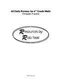 30 Daily Reviews for 6th Grade Math