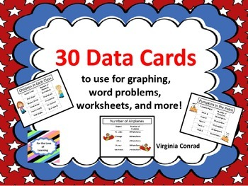 Data Cards for Graphing and Word Problems  CCSS MD.B.3