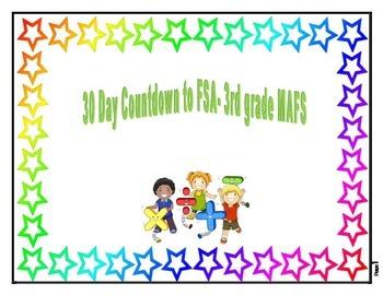 30 Day Countdown to FSA- 3rd Grade MAFS