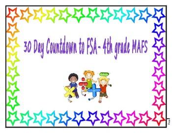 30 Day Countdown to FSA- 4th Grade MAFS