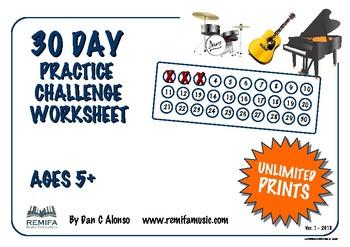 30 Day Practice Challenge Log