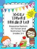 Reading Log Response Packets for Fiction and Nonfiction--One Year of Reading!