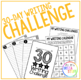 30 DAY WRITING CHALLENGE // PRINTABLE //